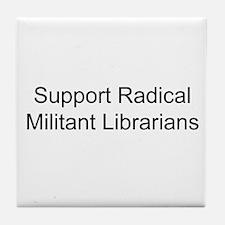 Cute Librarian freedom Tile Coaster