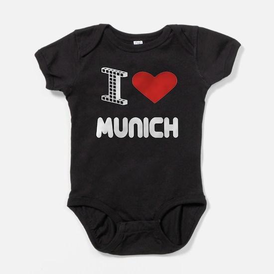 I Love Munich City Baby Bodysuit