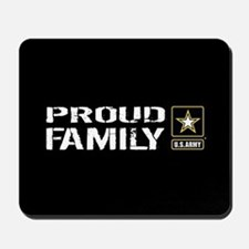 U.S. Army: Proud Family (Black) Mousepad