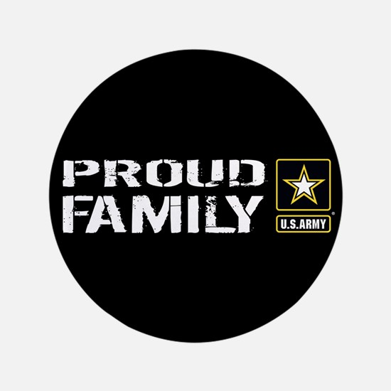 U.S. Army: Proud Family (Black) Button