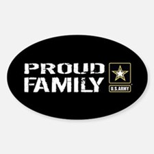 U.S. Army: Proud Family (Black) Decal