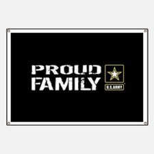 U.S. Army: Proud Family (Black) Banner