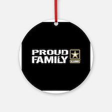 U.S. Army: Proud Family (Black) Round Ornament