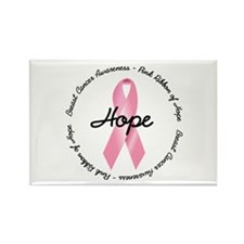Breast Cancer Ribbon Rectangle Magnet