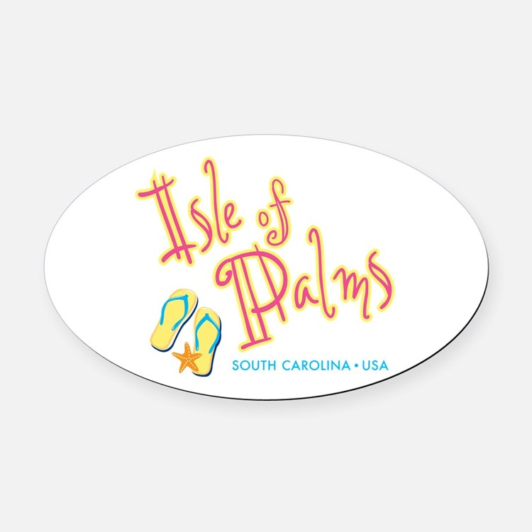 Isle of Palms - Oval Car Magnet