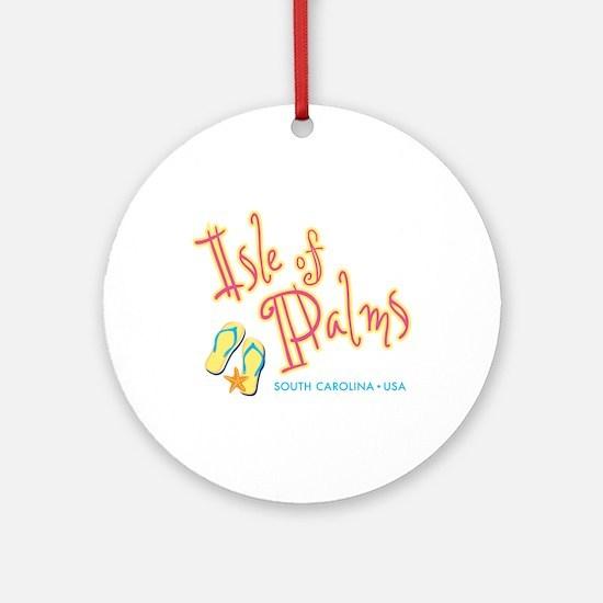 Isle of Palms - Round Ornament