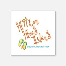 "Hilton Head Island - Square Sticker 3"" x 3"""