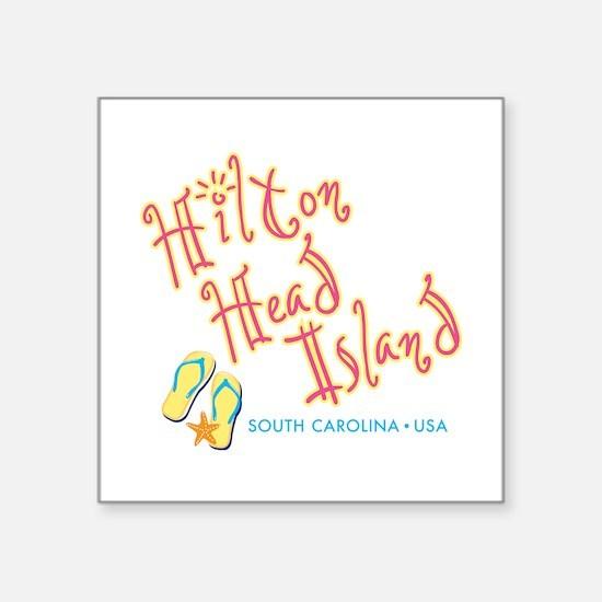 """Hilton Head Island - Square Sticker 3"""" x 3"""""""