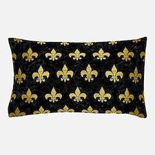 RYL1 BK MARBLE GOLD (R) Pillow Case