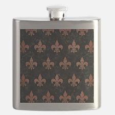 ROYAL1 BLACK MARBLE & COPPER BRUSHED METAL ( Flask