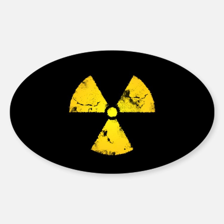 Eroded Radiation Symbol Decal