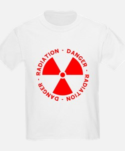 Red Radiation Warning T-Shirt