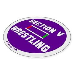 Section V Wrestling mat Oval Decal