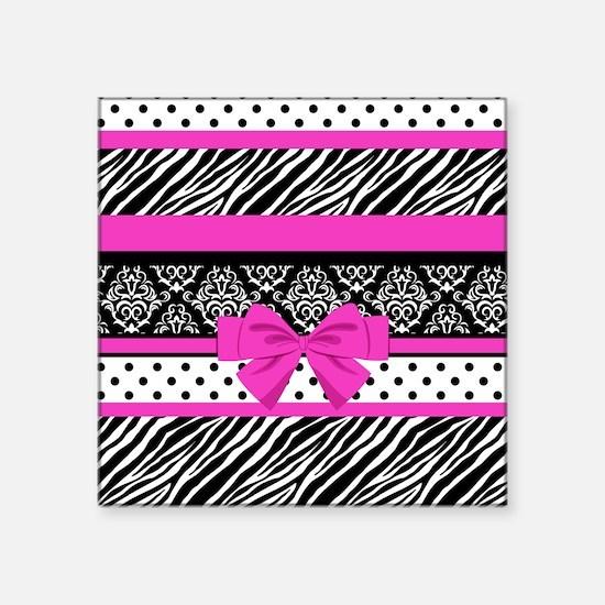 """Safari: Hot Pink Square Sticker 3"""" x 3"""""""