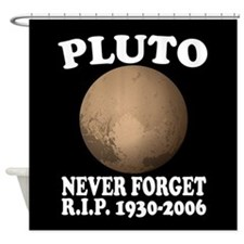 Pluto Never Forget Shower Curtain