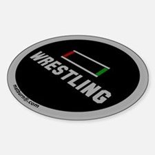 MATBURN Wrestling Mat Oval Decal