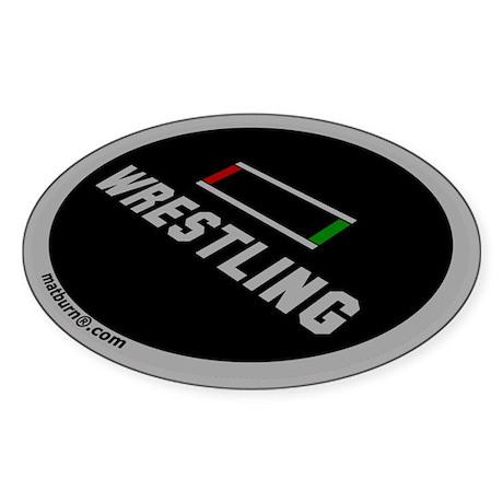 MATBURN Wrestling Mat Oval Sticker