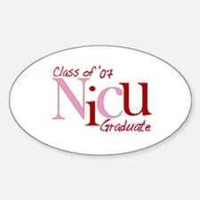 NICU Graduate 07 Girls Oval Decal