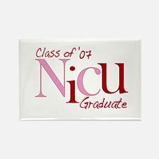 NICU Graduate 07 Girls Rectangle Magnet
