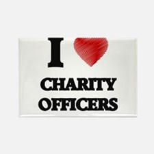 I love Charity Officers Magnets