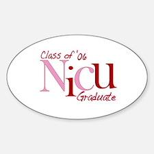 NICU Graduate 06 Girls Oval Decal