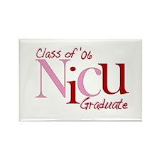 NICU Graduate 06 Girls Rectangle Magnet