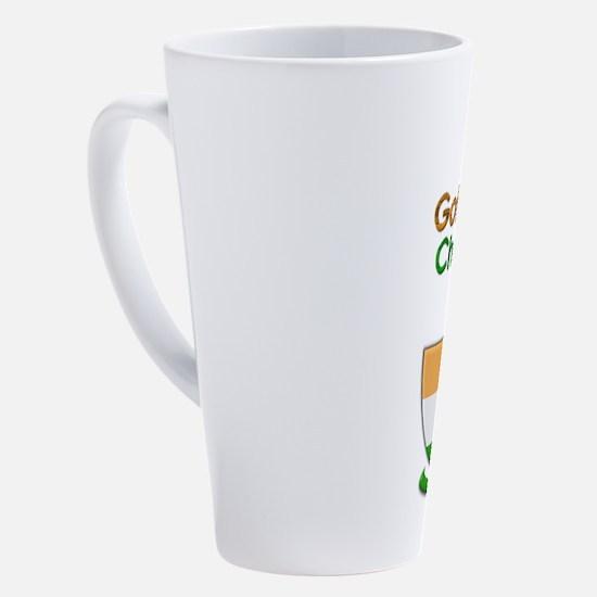 Funny Kiss me i%27m irish 17 oz Latte Mug