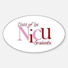 NICU Graduate 04 Girls Oval Decal