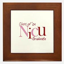 NICU Graduate 04 Girls Framed Tile