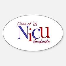 NICU Graduate 08 Boys Oval Decal