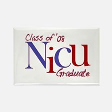 NICU Graduate 08 Boys Rectangle Magnet