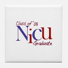 NICU Graduate 08 Boys Tile Coaster