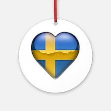 Sweden Heart Ornament (Round)