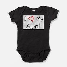 Cute I love my aunt Baby Bodysuit