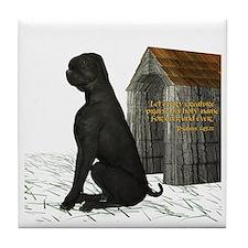 Dog (Black Labrador) Tile Coaster