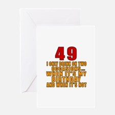 49 birthday Designs Greeting Card