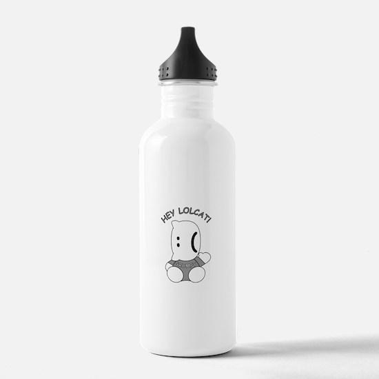 HeyLOLcatGrumpy.psd Water Bottle