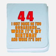 44 birthday Designs baby blanket