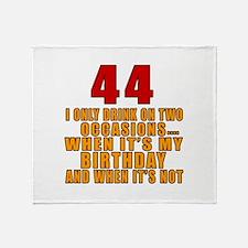 44 birthday Designs Throw Blanket
