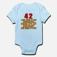 42 birthday Designs Infant Bodysuit