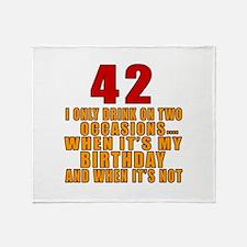 42 birthday Designs Throw Blanket