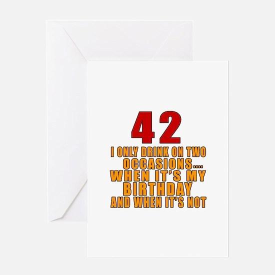 42 birthday Designs Greeting Card