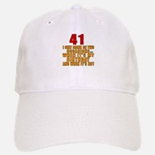 41 birthday Designs Baseball Baseball Cap