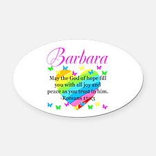 HEBREWS 15:13 Oval Car Magnet