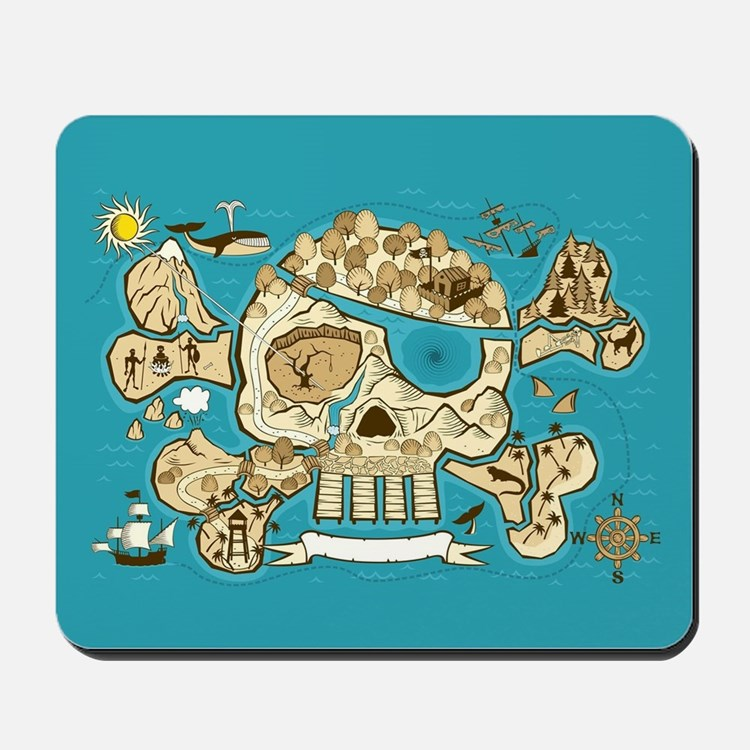 Treasure Map Mousepad