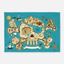 Treasure Map 5'x7'Area Rug