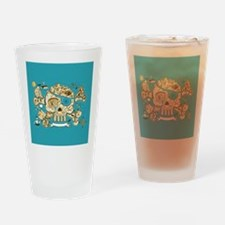 Treasure Map Drinking Glass