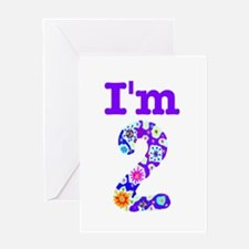 Colorful I'm 2 Greeting Card