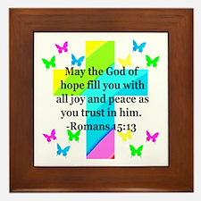 HEBREWS 15:13 Framed Tile