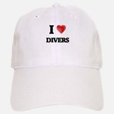 I love Divers Baseball Baseball Cap
